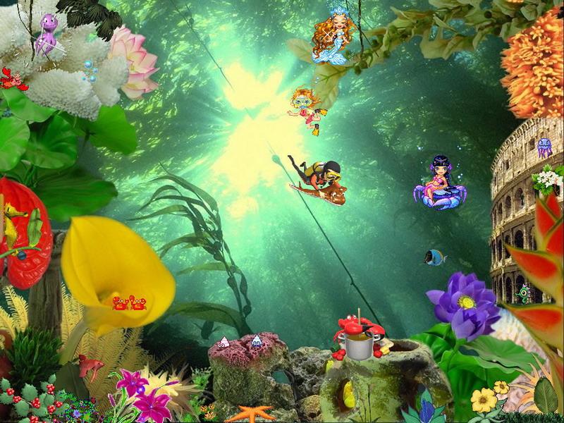 Animated aquaworld free aquaworld screensaver for Screensaver inter gratis